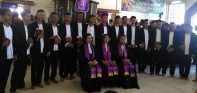 Foto bersama usai Peneguhan Sidi di Gereja Lahai Roi, Lateri